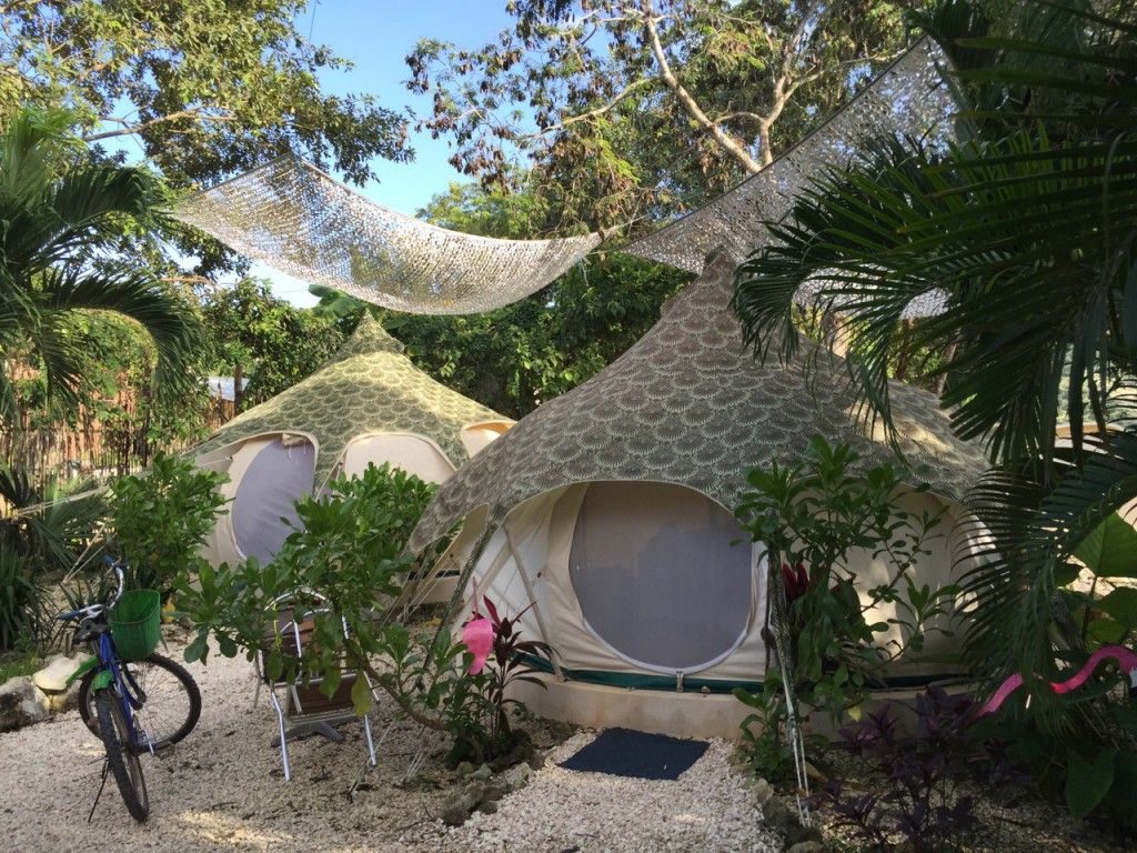 Glamping in Tulum, Mexiko