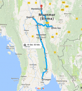 Unsere Route durch Myanmar: Yangon, Bagan, Inle See und Mandalay
