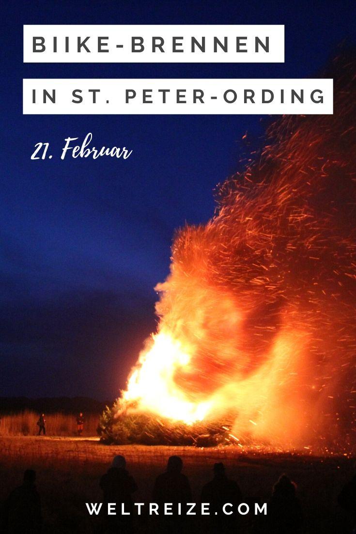 Feuer Biike-Brennen St. Peter-Ording Nordfriesland 21.2.