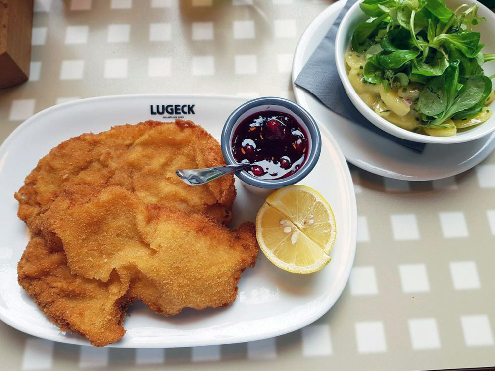 Wiener Schnitzel im Lugeck, Foto: Elisabeth Cischek