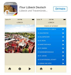 Handy-App ITour Luebeck