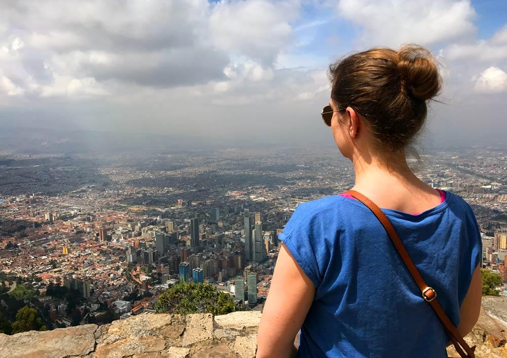 Blick vom Cerro Monserrate auf Bogota
