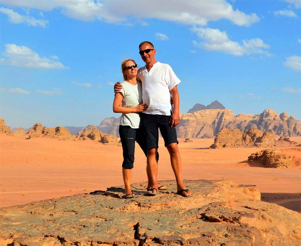 Tina und Manfred in Jordanien.