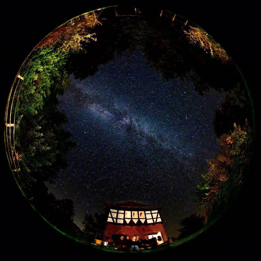 Sternenhimmel ueber der Goehrde im Wendland