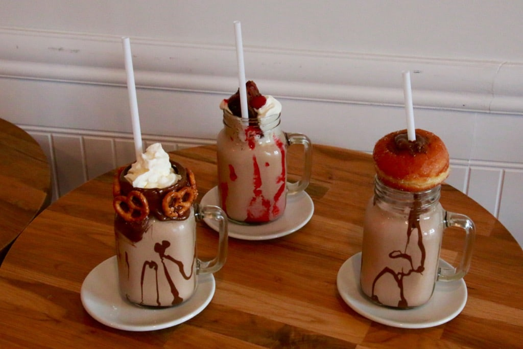 Milchshakes in Tella's Cremerie in Montreal