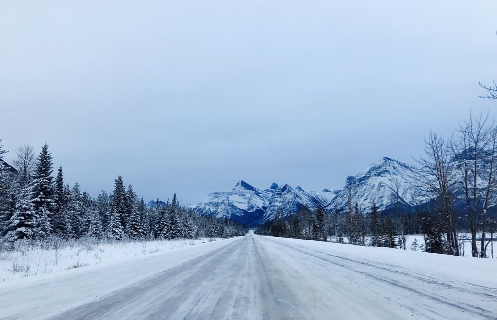 Icefields Parkway mit Rocky Mountains Jasper Nationalpark