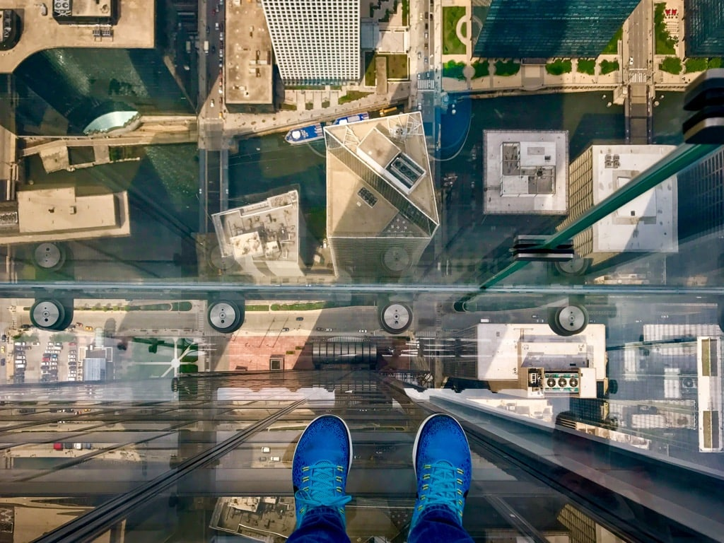 Blick vom Sears Tower Chicago