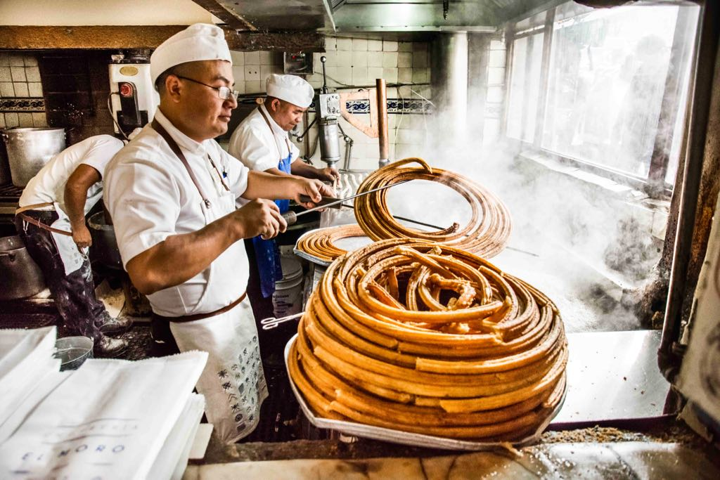 Handgemachte Churros in México City